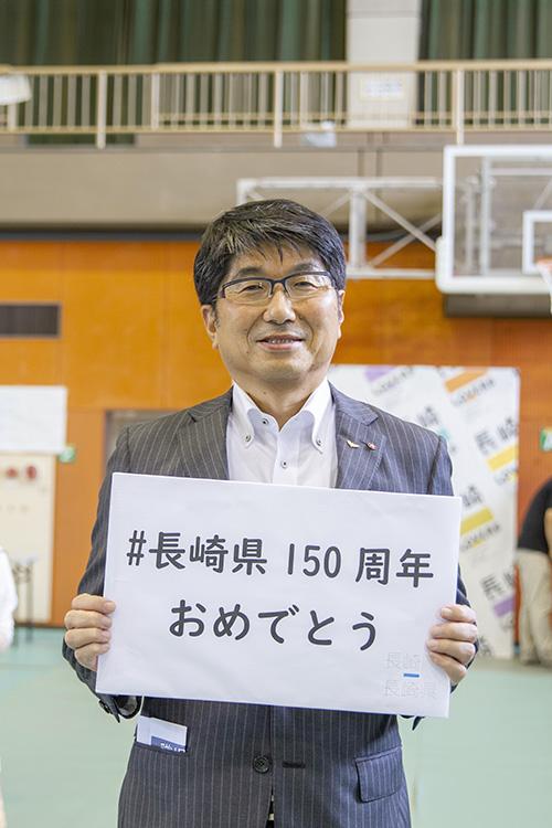 サブカルも上々!で長崎市長と記念撮影